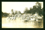 Indian Lake Orchard Island Bathing Beach Postcard