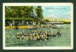 Indian Lake Sandy Beach Bathers Postcard