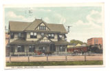 Bellefontaine, Ohio Big Four Railroad Depot Postcard