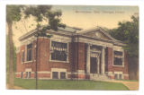 Bellefontaine Carnegie Library Tinted 1908 Postcard