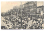 Bellefontaine Busy Day Downtown Postcard