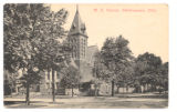 Bellefontaine Methodist Church Corner Postcard