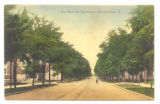 Bellefontaine North Main Street Postcard