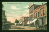 DeGraff Main Street West Side Postcard