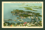 Indian Lake Air View Of Orchard Island With Beatleys Hotel Post Card