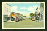 Lakeview, Ohio Lake Street Postcard