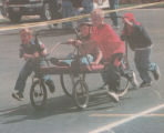 Bed race during Fall Festival