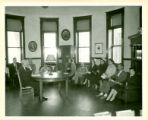 Methodist Wesleyan Class Meeting in the Clyde Library about 1952