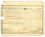Tax Receipt, Sandusky County, Ohio. November 1, 1931