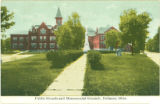 Defiance Public Schools and Monumental Grounds postcard