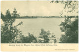 Looking down the Maumee from Island Park postcard