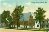 Hicksville Church postcard