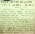 Swanton and wauseon against saloon