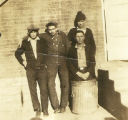 JR Home Four Boys and a Trash Can Photograph 1924