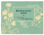 Paulding Centre School booklet 1908-1909