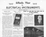 What's New in Electrical Instruments - 1937/02-03 issue