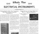 What's New in Electrical Instruments - 1937/11-12 issue