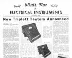 What's New in Electrical Instruments - 1938/05-06 issue