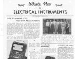 What's New in Electrical Instruments - 1939/09-10 issue