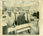 "Triplett Corporation ""Kaleidoscope"" assembly room black & white photographs"
