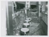 Interior view of White Castle number 26 after an auto accident, St. Louis, Missouri