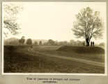 Octagon and circular earthworks view photograph