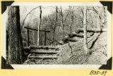 Fort Hill, steps and guardrail on creek trail photograph