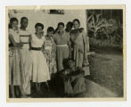 Yvonne Walker-Taylor and unidentified others in the West Indies photograph