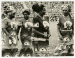 A photograph of Yvonne Walker-Taylor and unidentified women at the Independence Day Festivities