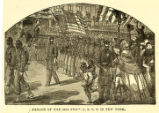 'Parade of The 20th Reg't. U. S. C. T. in New York' illustration