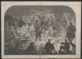 'A Bivouac Fire on the Potomac' illustration