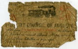 Twenty-five cent Confederate bank note