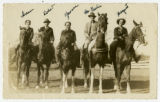 Yvonne Walker-Taylor and friends on horseback photograph
