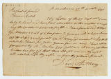 David Anthony letter to Thomas Rotch, Providence 15th 11th mo 1796