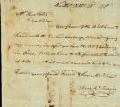 Uriah Swain letter to Thomas Rotch, Nantucket, October 28d, 1798