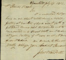 John Walworth letter to Thomas Rotch, Cleaveland July 27, 1812