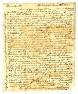 Samuel R. Fisher letter to Thomas Rotch, Philadelphia 4 mo 20th 1812
