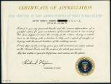 Certificate of Appreciation for Service in the Armed Forces of the United States awarded to Sandra...