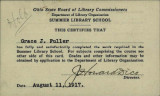 Ohio State Summer Library School Pass Card