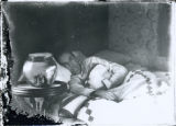 Woman in bed photograph