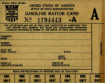 World War II ration memorabilia collection, 1942-1947.