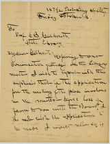 William Jackson Armstrong letter to C.B. Galbreath, October 3, 1906