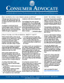 Consumer Advocate : a publication from the Consumer Protection Section of the Office of Ohio...