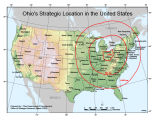 Ohio's strategic location in the United States