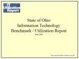 State of Ohio information technology benchmark/utilization report