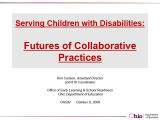Serving children with disabilities futures of collaborative practices