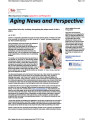 Aging news and perspective