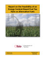 Report on the feasibility of an energy content-based fuel tax rate on alternative fuels