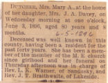 Mrs. Mary A. Dutcher