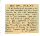 Mrs. Cora Holland